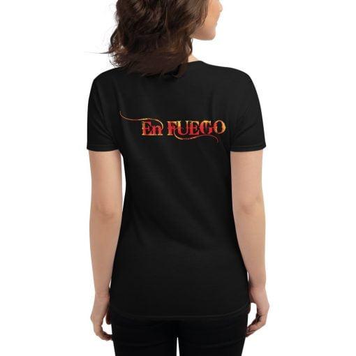 "En Fuego Cigars Las Vegas ""On Fire"" - Women's short sleeve t-shirt 3"