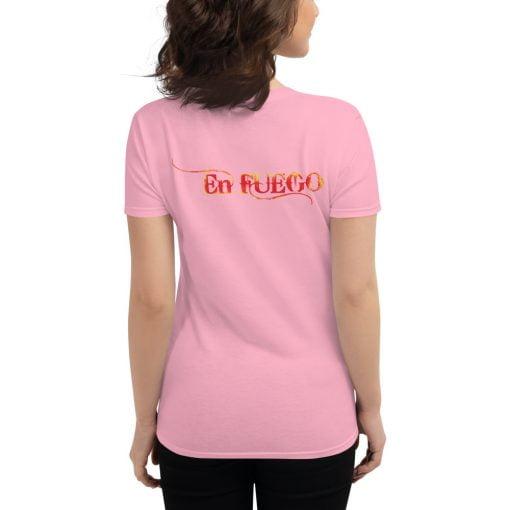 "En Fuego Cigars Las Vegas ""On Fire"" - Women's short sleeve t-shirt 7"