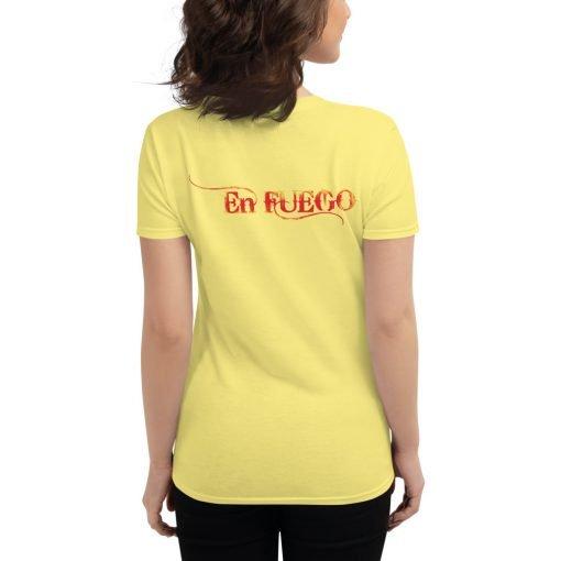 "En Fuego Cigars Las Vegas ""On Fire"" - Women's short sleeve t-shirt 9"